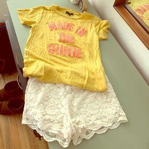 "JCrew ""made in the shade"" linen tee shirt xs"